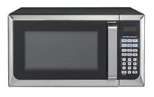 NEW Countertop Hamilton Beach 0 9 cu ft Microwave Oven Stainless Steel 900 Watts