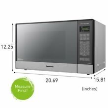 Panasonic Microwave Oven 1200 Watt Inverter Countertop Compact Smart Sensor Cook