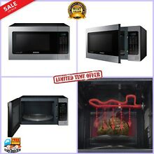 Samsung Countertop Grill Microwave Oven  Ceramic Enamel Interior Stainless Steel