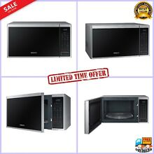Samsung 1 4 cu  ft Countertop Microwave Oven w Sensor Cook   Stainless Steel