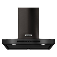KitchenAid KVWB600DBS 30  Black Stainless Wall Mount Range Hood NOB  37152 HRT