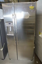 GE GSS23GSKSS 33  Stainless Side By Side Refrigerator NOB  34177 HRT