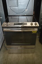 GE JS645SLSS 30  Stainless Slide In Electric Range Self Cleaning Oven  34098 HRT