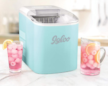 Igloo ICEB26AQ 26 Pound Automatic Portable Countertop Ice Maker Machine   Aqua