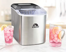 Igloo ICEB26SS 26 Pound Automatic Portable Countertop Ice Maker Machine  Stainle