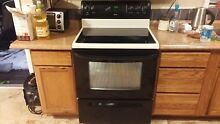 KENMORE SELF CLEANING 5 BURNERS GLASS TOP ELECTRIC RANGE STOVE BLACK WHITE 18302