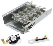 Dryer Heating Element Kit w Thermostat   Whirlpool WED4800XQ0 Kenmore 400 Series