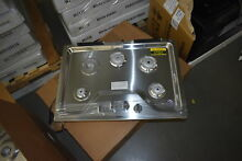 Whirlpool WCG55US0HS 30  Stainless 4 Burner Gas Cooktop NOB  37922 HRT