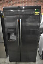Samsung RH25H5611SG 36  Black Stainless Side By Side Refrigerator  37837 CLN