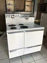 GE 42  Electric Stove With Original flat Top Grill