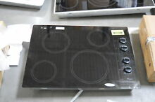 Whirlpool W5CE3024XB 30  Black Electric Cooktop NOB  30925 HRT