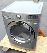 LG  27  Graphite Steel Front Load Electric Dryer DLEX3370V