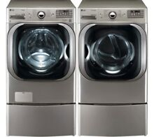 WM8100HVA electric Washer Dryer And Pedestals   Ships FAST