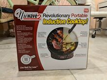 NuWave 2 Induction Portable Cooktop   FREE 9  Ceramic Fry Pan NEW IN BOX