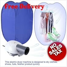 Electric Clothes Laundry Dryer Folding Ventless Air Bag hot pump blower Heater