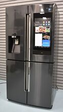Samsung Family Hub RF22N9781SG 36  Black Stainless Counter French Refrigerator