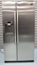 Samsung RS22HDHPNSR 36  Counter Depth Stainless Side by Side Refrigerator Grey