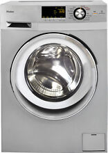 Haier HLC1700AXS 24  Silver Electric Washer Dryer Combo NOB  33691 HRT