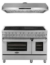 COSMO DUAL FUEL 48  RANGE WITH 6 BURNERS AND UNDER CABINET RANGE HOOD PACKAGE