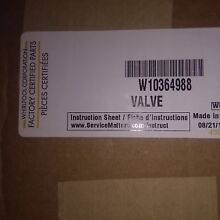 Washer Whirlpool Water Inlet Valve W10364988