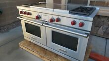 Wolf  DF604GF 60  Pro Style Dual Fuel Range 4 Burners Griddle   Chef s FrenchTop