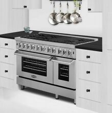 Cosmo 48  Dual Fuel Range with 6 Burners and Griddle COS DFR486G Stainless Steel