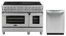 Cosmo Kitchen Appliance Package 48  Dual Fuel Range and 24  Dishwasher