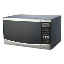 0 9 Cubic Foot Capacity Stainless Steel Microwave Oven  900 Watts