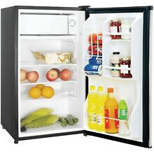 Magic Chef 3 5 Cubic Ft Refrigerator Stainless Look MCBR350S2