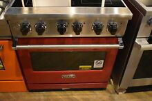 Viking Pro VER5304BAR 30  Apple Red Freestanding Electric Range NOB  23626 MAD