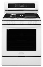 KitchenAid KGRS303BWH 30  White Freestanding Convection Gas Range NIB  3442 MAD
