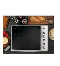 GE PP944STSS 30  Stainless Smoothtop Electric Cooktop NIB  26515 MAD