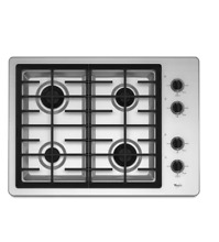 Whirlpool W5CG3024XS 30  Stainless Natural Gas 4 Burners Cooktop NIB  2076 MAD