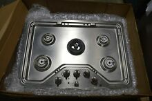 GE PGP959SETSS 30  Stainless Gas 5 Burner Cooktop w Griddle NOB  18204 MAD
