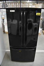 GE GWE19JGLBB 33  Black French Door Refrigerator NOB  39613 HRT