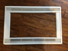 GE 30  Deluxe Trim for Countertop Microwave  White  Trim only