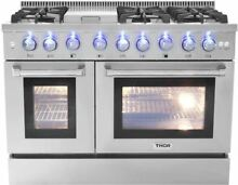 48  THOR HRD4803U Dual Fuel Two Oven  6 Burner Griddle Convection Range