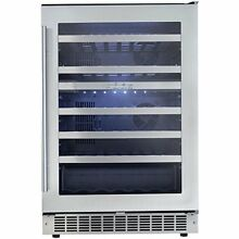 Danby Silhoutte Sonoma DWC053D1BSSPR  24  Stainless Built in Wine Cooler