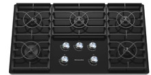 KitchenAid Architect II 36 in 5 Burner Black Gas Cooktop