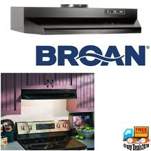 Broan 30 Inch Under Cabinet Push Panel Kitchen Range Hood Black Stainless Steel
