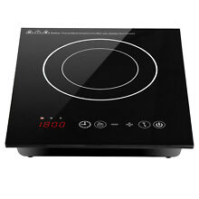 Electric Induction Cooktop Stove Burner Temperature Control W  Timer Bottom Fan