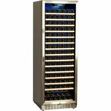 166 Bottle Stainless Steel Commercial Wine Cooler  Built In Fridge Chill Cellar