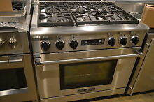 American Range ARR366DFN 36  Stainless Pro Style Dual Fuel Range NOB  10738 CLW