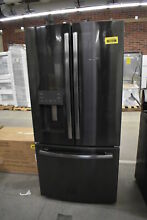 GE GFE24JBLTS 33  Black Stainless French Door Refrigerator NOB  39870 HRT