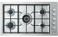 Fisher Paykel CG365DWLPACX2 36  Stainless LP Gas Built In Cooktop NOB  40084 HRT