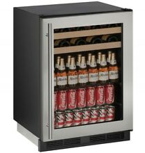 U Line U1224BEVS00B 24  Stainless Built In 5 4 cu ft Beverage Center NIB MAD