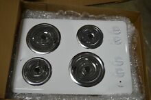 Whirlpool WCC31430AW 30  White Four Coil Electric Cooktop NOB  25651 MAD