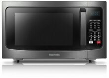 Toshiba 1 5 cu  ft  Microwave Oven Stainless Steel Convection Blue LCD Display