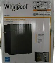 Whirlpool Mini Refrigerator 2 7 Cu Ft  Stainless Steel Freezer Compartment