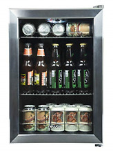 NewAir Beverage Cooler and Refrigerator  Small Mini Fridge with Glass Door  for